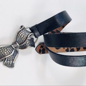 Btesey Johnson Accessories - 👛2/$50 Betsey Johnson Lg Faux Black Leather Belt